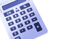 Business Calculator. With Large Buttons And Display, Blue Toning stock photography