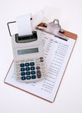 Business Calculator Close-Up Stock Photo