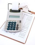 Business Calculator Close-Up Stock Photos