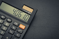 Business calculator on leather Stock Photography