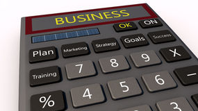 Business calculator Stock Images