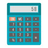 Business calculator technology vector icon. Mathematics business calculator technology vector icon. Electronic financial display sign design. School graphic Stock Photo