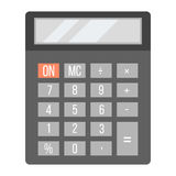 Business calculator technology vector icon. Mathematics calculator technology vector icon. Electronic financial display sign design subtraction. School graphic Royalty Free Stock Image