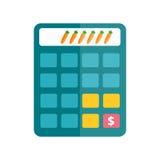 Business calculator technology vector icon. Mathematics calculator technology vector icon. Electronic financial display sign design subtraction. School graphic Stock Photos