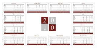 Business calendar 2010 Royalty Free Stock Photos