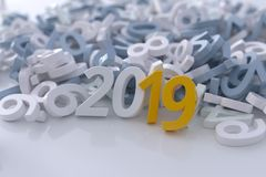 Business calendar cover for 2019 year royalty free stock photos