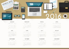 Business calendar 2016 Stock Photos
