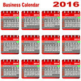 Business Calendar 2016. Royalty Free Stock Photography
