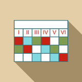 Business calendar infographic icon, flat style. Business calendar infographic icon. Flat illustration of business calendar infographic vector icon for web design Royalty Free Stock Photos