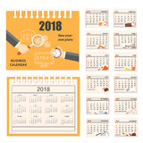 Business calendar for wall or desk year 2018 Stock Image