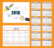 Business calendar for wall or desk year 2018 Stock Photography
