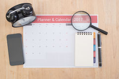 Business Calender Planner meeting on desk office. Stock Photos