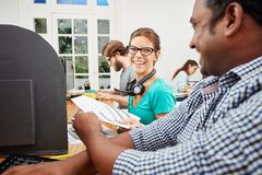 Business call center consultant Stock Photography