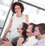 Business call centre. Working in a business call centre Stock Photo