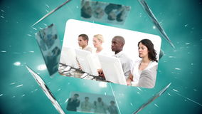 Business and call centre montage Royalty Free Stock Image