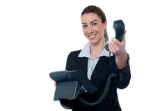 Business call for you, boss! Royalty Free Stock Photo