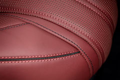 Business car leather seat. Royalty Free Stock Photography