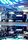 Business car reflection Royalty Free Stock Images