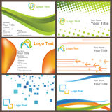 Business card. Six different business card backgrounds that can be used for your company's identity royalty free illustration