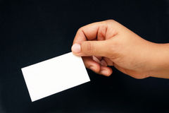 Business card. Show your card for introdduce yourself Stock Photography