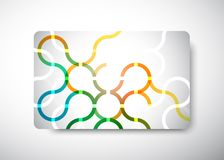 Business card. Gift Card - size 3 3/8 x 2 1/8  (86 x 54 mm Stock Images