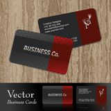 business card. Vector Business cards,front & back Royalty Free Stock Photography