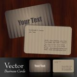 business card. Vector Business cards,front & back Royalty Free Stock Photos