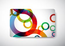 Business card. Gift Card - size 3 3/8 x 2 1/8  (86 x 54 mm Stock Image