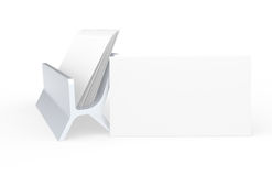 Business Card. Blank Business Card, leaning on Card Holder. Copy-Space Royalty Free Stock Photography