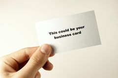 Business card 2. This could be your business card Stock Photos