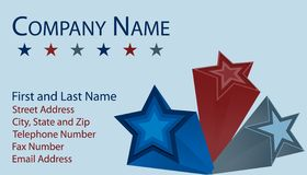 Business Card with 3D Stars Royalty Free Stock Image