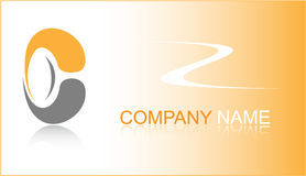 Business card. Orange set. Simply change. Other s you can see in my portfolio Stock Images