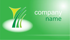 Business card. Green set. Simply change. Other s you can see in my portfolio Stock Photography