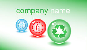 Business card. Color set. Simply change. Other s you can see in my portfolio Royalty Free Stock Photos