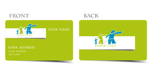 Business card. Vector business card set, for more business card of this type please visit my gallery Royalty Free Stock Photography