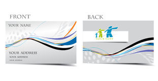 Business card. Vector business card set, for more business card of this type please visit my gallery Royalty Free Stock Photos