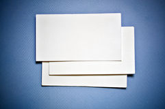 Business card. Several blank business cards on a neutral background Stock Images