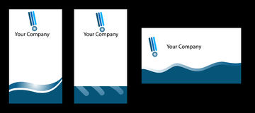 Business card. Three software company business cards Royalty Free Stock Photo
