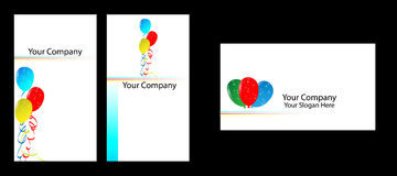 Business card. Some different concept business cards, it easily use balloon companies Stock Photos