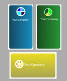 Business card. Three software company business cards, three various colours Royalty Free Stock Photo