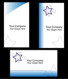 Business card. Single color 3 various concept business cards Stock Photography