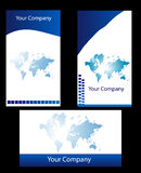 Business card. New style Business cards using world map Royalty Free Stock Photography