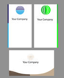 Business card. S - three various colors and symbols Royalty Free Stock Image