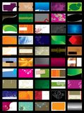 Business Card. 50 Colorful Business Cards design Stock Images