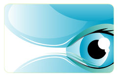 Business card. Vector illustration with eye Stock Photo
