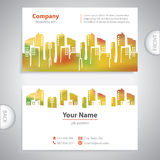 Business card - Abstract architectural building. Company presentations Stock Illustration
