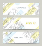 Business card with abstract background. Business card with abstract background for architectural or printing company. Vector background for printing and paper Vector Illustration