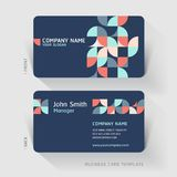 Business card abstract background. Stock Photos