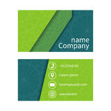 Business card with abstract background of lines. Business cards. Set. Space for company name, address, phone, email. Visit card blank, template.  Business card Stock Photos