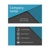 Business card with abstract background of lines. Business cards. Set. Space for company name, address, phone, email. Visit card blank, template.  Business card Royalty Free Stock Photo